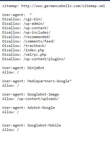 robots txt desindexar una categoria en google
