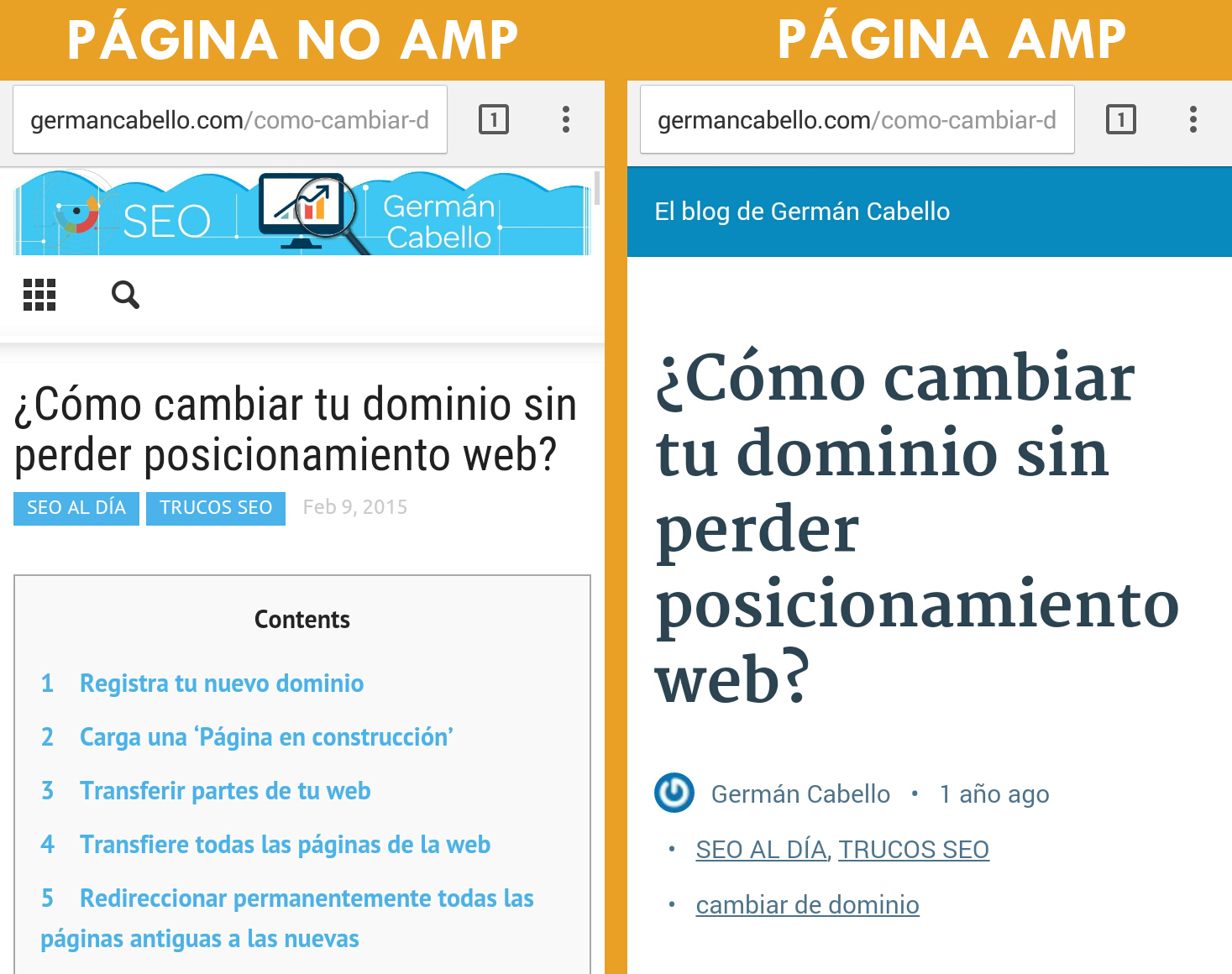 PAGINA AMP VS NO APM