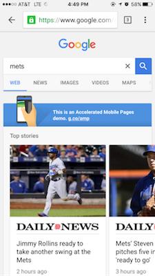 amp google ejemplo